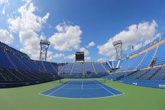 Luis Armstrong Stadium bei Billie Jean King National Tennis Center während US Open-Turniers 2014 lizenzfreies stockbild