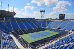 Luis Armstrong Stadium a Billie Jean King National Tennis Center durante l'US Open 2014 Fotografia Stock Libera da Diritti