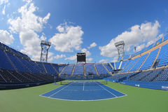 Luis Armstrong Stadium at the Billie Jean King National Tennis Center during US Open 2014 tournament Royalty Free Stock Image