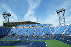 Luis Armstrong Stadium en Billie Jean King National Tennis Center lista para el torneo del US Open Imagen de archivo