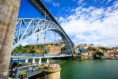 Luis bridge in Porto ols city Stock Photos