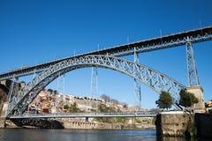 Luis bridge in Porto, Portugal. Royalty Free Stock Images