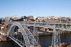 Luis bridge in Porto, Portugal. Stock Images