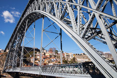 Luis bridge in Porto, Portugal. Stock Image