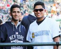 Luis Cedeno and Alvaro Noriega, Charleston RiverDogs Stock Images