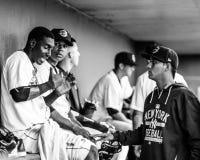 Luis Cendeno, Jorge Mateo and Isaias Tejeda, Charleston RiverDogs Stock Photo