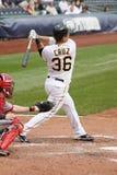 Luis Cruz dos piratas de Pittsburgh balanç em um pi Imagem de Stock