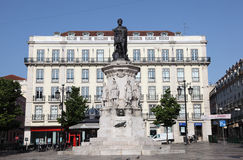 Luis de Camoes Square, Lisbon Stock Photo