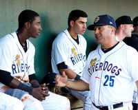 Luis Dorante and Jorge Mateo, Charleston RiverDogs. Stock Photos