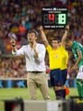 Luis Enrique de FC Barcelona Photos stock