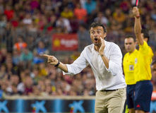 Luis Enrique de FC Barcelona Photos libres de droits