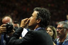 Luis Enrique FC Barcelone Royalty-vrije Stock Afbeelding