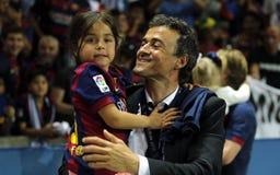Luis Enrique FC Barcelone Royaltyfri Bild