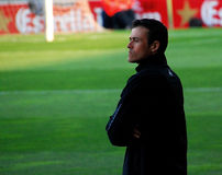 Luis Enrique Martinez, car de F C Barcelone photographie stock