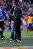 Luis Enrique Martinez chef av FCet Barcelona Royaltyfria Foton