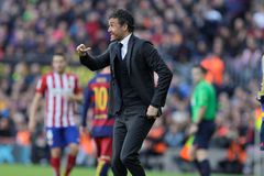 Luis Enrique Martinez chef av FCet Barcelona Arkivbilder