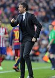 Luis Enrique Martinez manager of FC Barcelona Stock Photography