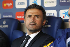 Luis Enrique Martinez manager of FC Barcelona Royalty Free Stock Image