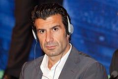 Luis Figo Ambassador UEFA Stock Photography