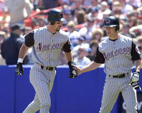 Luis Gonzalez and Jay Bell stock image