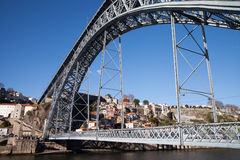 Luis most w Porto, Portugalia Fotografia Royalty Free