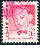 Luis Munoz Marin. UNITED STATES - CIRCA 1986: stamp printed by United states, shows Luis Munoz Marin, circa 1986 Stock Images