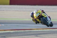 Luis Salom Moto2 Grand Prix Movistar Aragà ³ ν Στοκ εικόνες με δικαίωμα ελεύθερης χρήσης