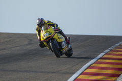 Luis Salom Moto2 Grand Prix Movistar Aragà ³ ν Στοκ Εικόνες