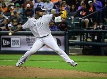 Luis Severino Delivers på Camden Yards Royaltyfria Foton