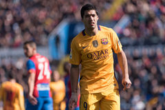 Luis Suarez. In action during the match between Levante and FC Barcelona Royalty Free Stock Photo