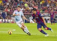Luis Suarez dribbling Stock Images
