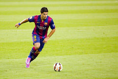 Luis Suarez of FC Barcelona. Luis Suarez of FCB in action at Gamper friendly match between FC Barcelona and Club Leon FC, final score 6-0, on August 18, 2014, in Royalty Free Stock Images