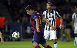 LUIS SUAREZ FC BARCELONE Lizenzfreies Stockbild