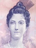 Luisa Caceres de Arismendi portrait. From Venezuelan money Stock Images