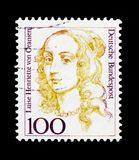 Luise Henriette von Oranien 1627-1667, Elector of Brandenbourg, Women in German History serie, circa 1994. MOSCOW, RUSSIA - OCTOBER 21, 2017: A stamp printed in stock photography