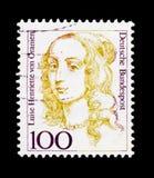 Luise Henriette Von Oranien 1627-1667, elektor Brandenbourg, kobiety w Niemieckim historii seria około 1994, Fotografia Stock