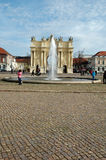 Luisenplatz and Brandenburg Gate in Potsdam Stock Photo