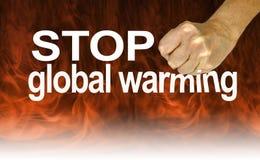 Luister aan de Deskundigen en Einde het Globale Verwarmen stock fotografie