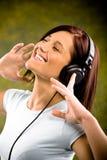 Luister aan de muziek royalty-vrije stock fotografie