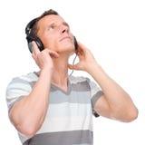 Luister aan de muziek stock afbeeldingen