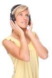 Luister aan de muziek stock foto's