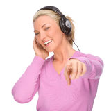 Luister aan de muziek royalty-vrije stock afbeelding