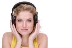 Luister aan de muziek royalty-vrije stock foto's
