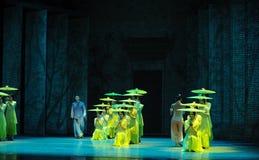 Luister aan de regen krijgen de inspiratie-tweede handeling van de gebeurtenissen van dans drama-Shawan van het verleden Royalty-vrije Stock Fotografie