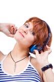 Luister aan muziek Royalty-vrije Stock Afbeeldingen