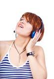 Luister aan muziek Royalty-vrije Stock Fotografie