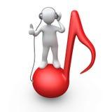 Luister aan Muziek royalty-vrije illustratie