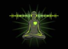 Luister aan uw hart Stock Foto's
