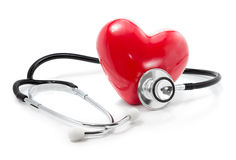Luister aan uw hart: gezondheidszorgconcept Royalty-vrije Stock Foto
