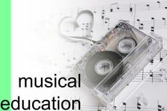 Luister de nota'sachtergrond van de cursussenmuziek stock foto